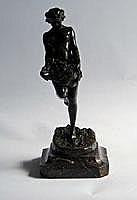 Raymond Leon Rivoire Jeune fille nue a la beaace