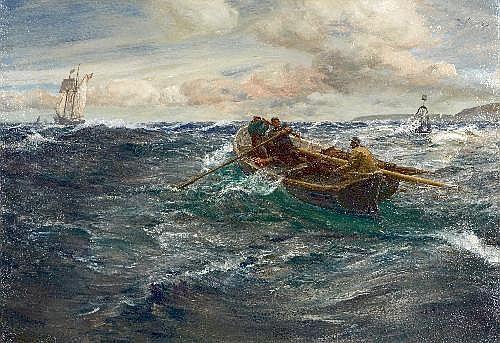 Charles Napier Hemy (1841-1917) The Pilot Oil on