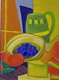 Blue Grapes- oil on canvas- signed Size: 12
