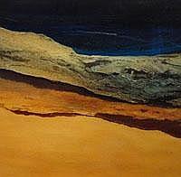 Jenny Woodhouse landscape 1998 - oil on paper-