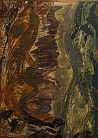 Rinsey Head April 1871 - guache on paper - signed