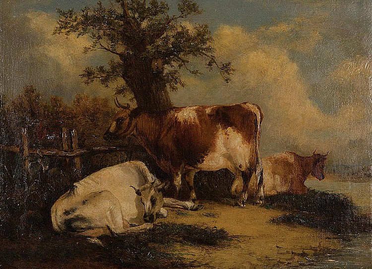 Charles Shayer (flourished 1870 - 1880) Cattle by