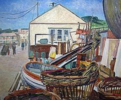 Marjorie Mort (1906-1968) Newlyn 1959, oil on