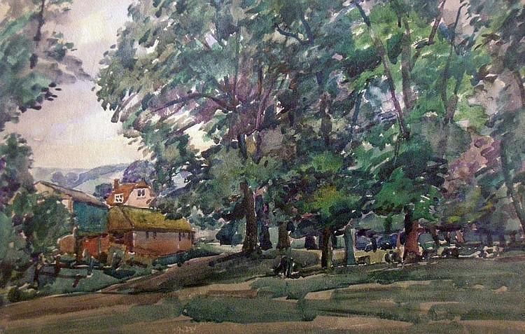 Llewellyn Petley Jones (1908-1986) Woodland Scene,