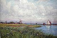 John Dobby Walker (1863-1925) Sailing on the
