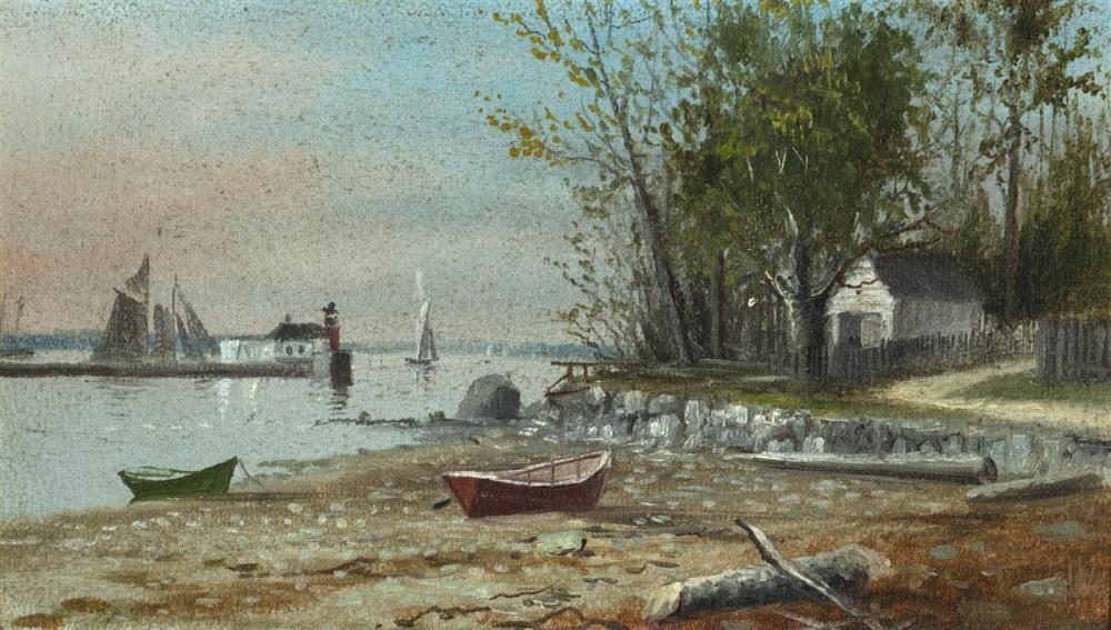 Hathaway Boat at dawn vintage art photo by M