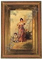 Virgilio Tojetti It. 1851-1901 Classical Figure with Cherubs Signed
