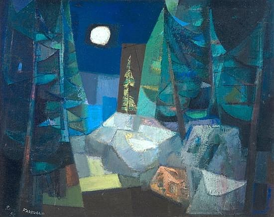 Remo  Farruggio - 'Monhegan Woods I'