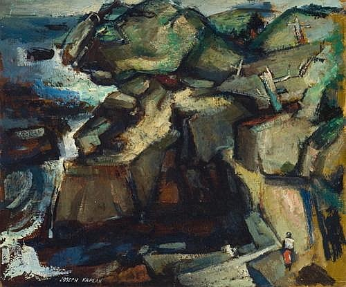 Joseph Kaplan - 'Monhegan Landscape'