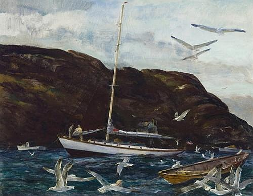 Andrew Winter - 'Gulls at Monhegan III'