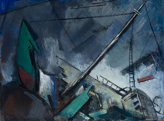 Joseph De Martini - 'The Wreck of the St. Christopher at Squeeker Cove, 1949'