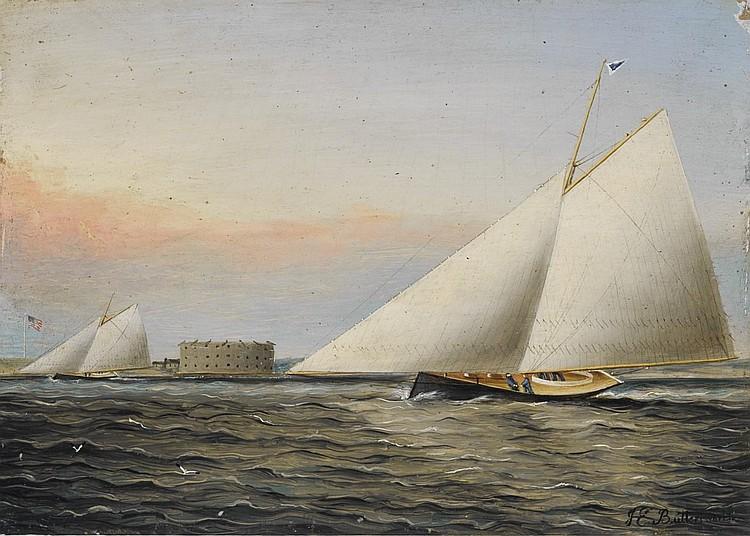 James Buttersworth - 'New York Harbor'