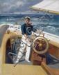 Augustus W. Buhler - 'Sailing off Thacher Island'