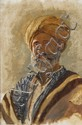 Edwin Lord Weeks - 'Portrait of a Turbaned Man'