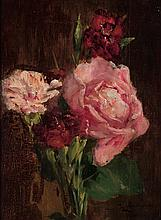 British or Continental School - Carnations and Roses