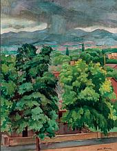 Jean Hanau - Storm Over the Jemez Mountains, New Mexico