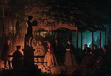 Petrus Van Schendel - Soirée de feux de Bengale au Vaux-Hall, Parc de Bruxelles