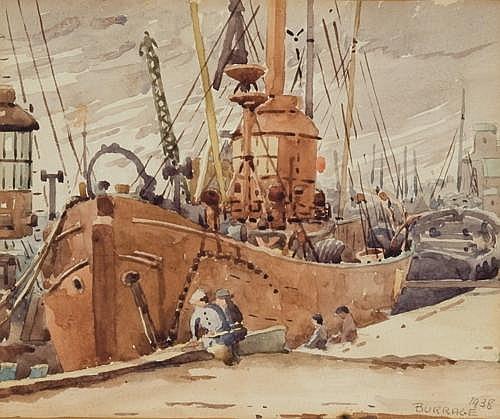 Mildred Burrage - Lightship in Dock
