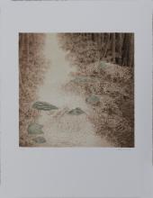 "Alan Bray, Am. 1946, Untitled, Print, 26"" x 20"" Actual"