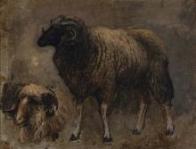 Edwin Lord Weeks - Study of a Ram