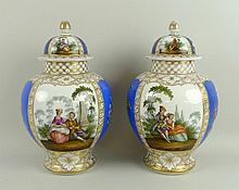 A pair of Dresden, Helena Wolfson, porcelain vases