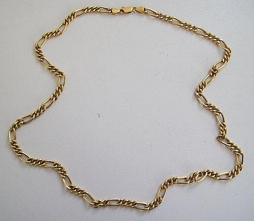 An 18ct  gold necklace, marked 750, *352 AR,