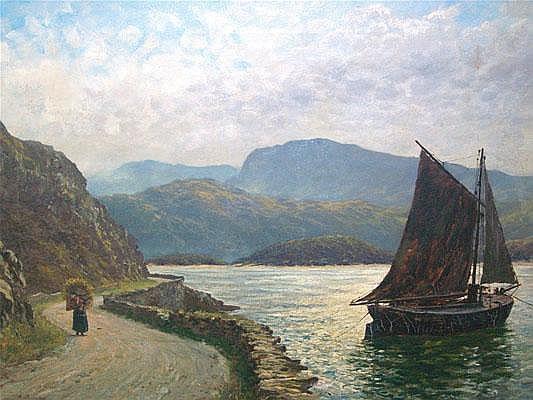 Charles France (fl. 1881 - 1889): an oil on canvas