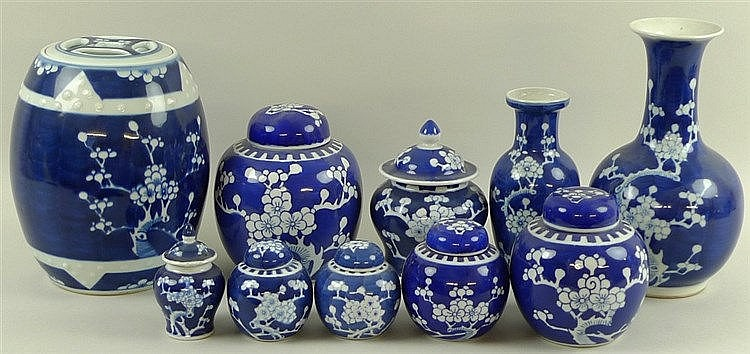 A Group Of Chinese Decorative Jars And Vases Late 20th Cent