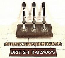 A British Railway enamel sign, circa 1970, 64 by