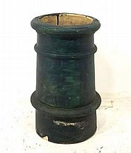 A painted chimney pot, 37 by 59cm high.