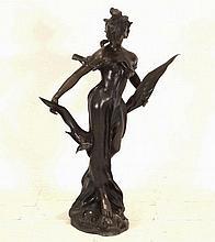 An Art Nouveau style bronze figure of a classical