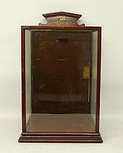 A Victorian mahogany and glass case, with key, 29