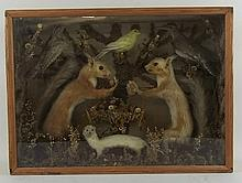 Taxidermy: a squirrel's tea party modelled with