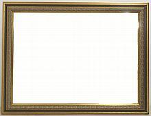 A modern gilt framed wall mirror, inset bevelled