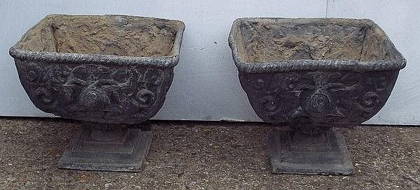 A pair of 19th century Renaissance style lead