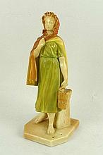A Royal Worcester blush porcelain figure, modelled