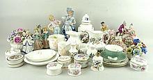 A quantity of Aynsley ceramics, comprising; vase