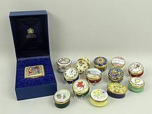 A collection of Halcyon Days enamel boxes,