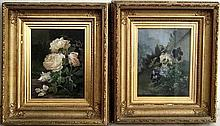 Alexandre Debrus (1843-1905): a pair of flower