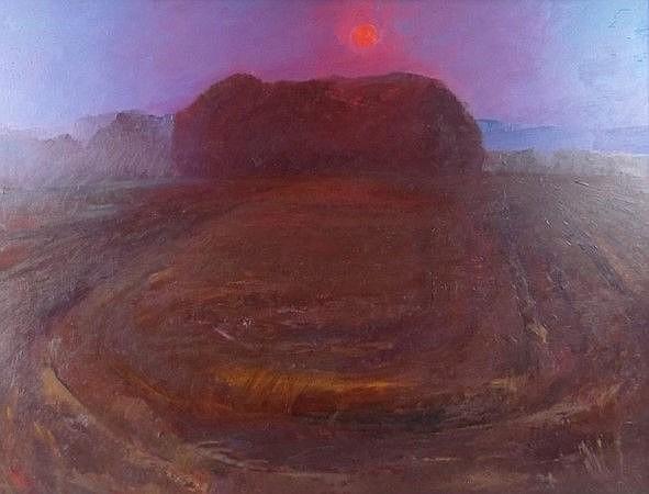 Violet Fuller (British, 1920-2008 ): Sunset at Aye