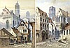 Edwin St John (British, 1878-1961): a pair of Continental street scenes, with Cathedral spires in th, Augustus, OM John, £0