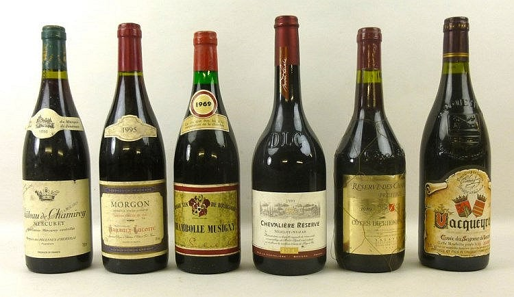 Vintage Wine A Bottle Of Chambolle Musigny 1969 Purchased From Simkin