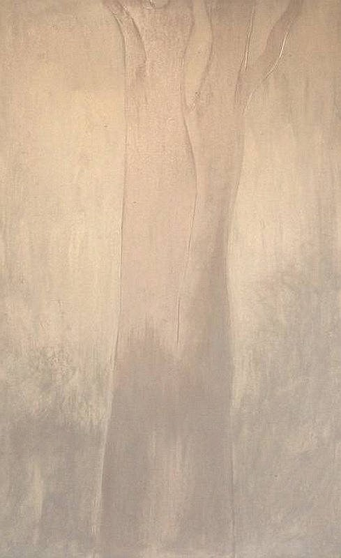 Paul Ryan (b. 1964): 'Tree', oil on canvas, signed and dated, 1994, 120 by 75cm.