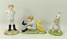 A collection of Royal Doulton Winnie the Pooh figurines, comprising Christo