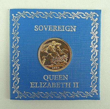 A Queen Elizabeth II sovereign, 1981.