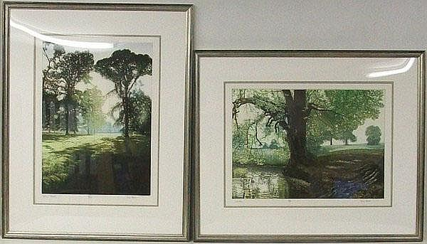 Mark Spain - limited edition coloured etchings