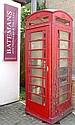 A cast iron model K6 British telephone box,