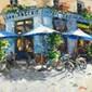 ARTIST: Elena Bond TITLE: The Blue Café, Elena Bond, Click for value