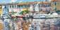 ARTIST: Elena Bond TITLE: Mediterranean Fishing Village, Elena Bond, Click for value