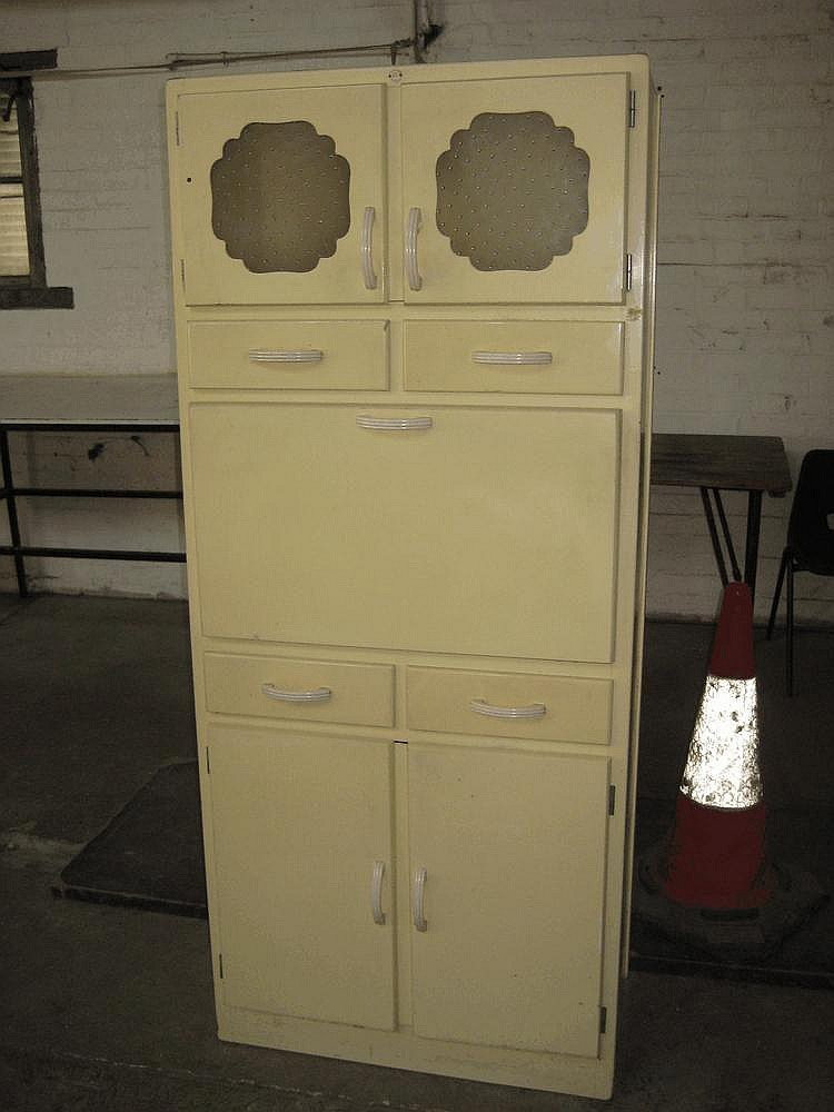 A 1950 39 s remploy wooden kitchen cabinet with 2 for 1950 s kitchen cabinets